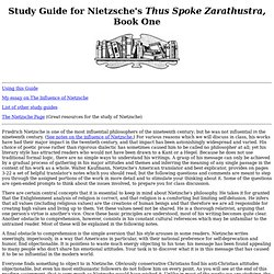 Study Guide for Nietzsche's Thus Spoke Zarathustra