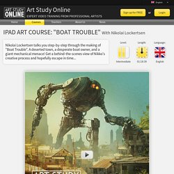 "Art Study Online: iPad Art Course: ""Boat Trouble"""