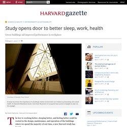 Study opens door to better sleep, work, health
