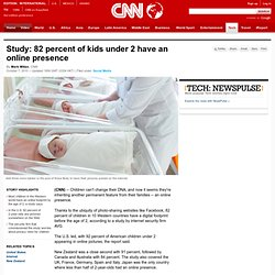 Study: 82 percent of kids under 2 have an online presence