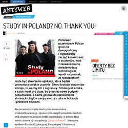 Study in Poland? No. Thank you!