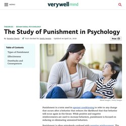 The Study of Punishment in Psychology
