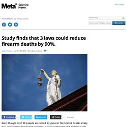 Study Finds 3 Laws Could Reduce Firearm Deaths by 90%