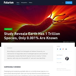 Study Reveals Earth Has 1 Trillion Species, Only 0.001% Are Known