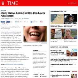 Study Shows Seeing Smiles Can Lower Aggression