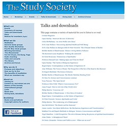 The Study Society - Talks and downloads