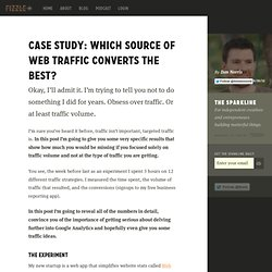 Case Study: Which Source of Web Traffic Converts the Best?