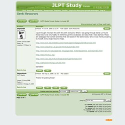 JLPT Study :: View topic - Genki Resources