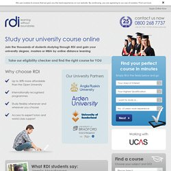 Study your university course online -  RDI RDI