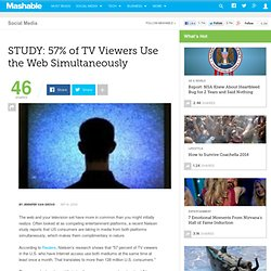 STUDY: 57% of TV Viewers Use the Web Simultaneously