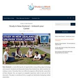 Study in New Zealand – Unleash your Career
