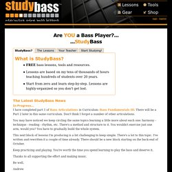 Online Bass Lessons at StudyBass.com