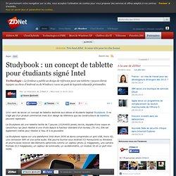 Studybook : un concept de tablette pour étudiants signé Intel