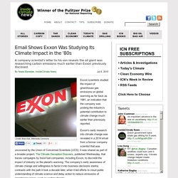 Email Shows Exxon Was Studying Its Climate Impact in the '80s