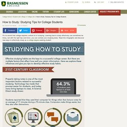 How to Study: Studying Tips for College Students