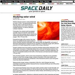 Studying solar wind