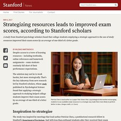 Studying more strategically equals improved exam scores