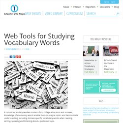» Web Tools for Studying Vocabulary Words