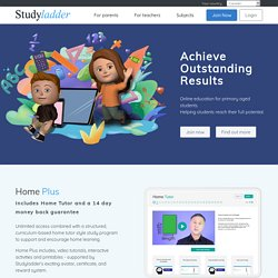 Studyladder, online english literacy & mathematics. Kids activity games, worksheets and lesson plans.