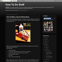- How To Do Stuff