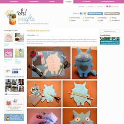 Stuffed felt monster in Craft ideas for original gifts and presents