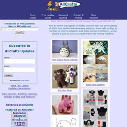 Over 50 Free Stuffed Animal Sewing Patterns at AllCrafts.net