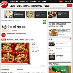 Ragu-Stuffed Peppers Recipe : Food Network Kitchens