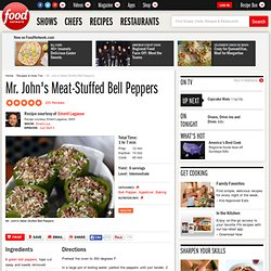 Mr. John's Meat-Stuffed Bell Peppers Recipe : Emeril Lagasse