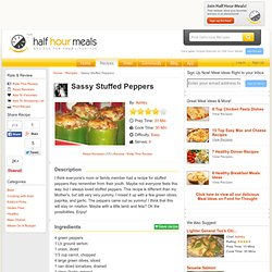 Sassy Stuffed Peppers