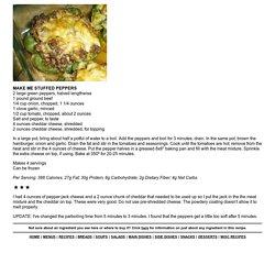 MAKE ME STUFFED PEPPERS - Linda's Low Carb Menus & Recipes