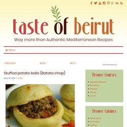 Stuffed potato balls (Batata chap) - Taste of Beirut