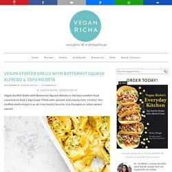Vegan Stuffed Shells with Tofu Ricotta & Butternut Squash Alfredo