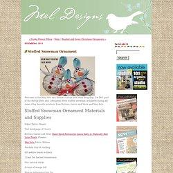 Stuffed Snowman Ornament - Mel Designs