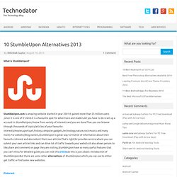 10 StumbleUpon Alternatives 2013 - Technodator