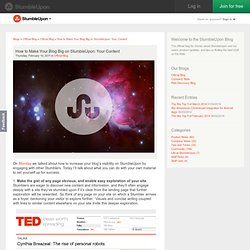 How to Make Your Blog Big on StumbleUpon: Your Content