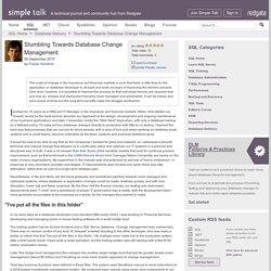 Stumbling Towards Database Change Management