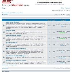 Stump the Panel: SharePoint Q&A