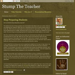 Stump The Teacher