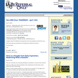 Joe Stumpf's By Referral Only Member Blog