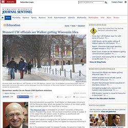Stunned UW officials see Walker gutting Wisconsin Idea