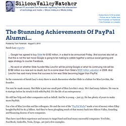 The Stunning Achievements Of PayPal Alumni...