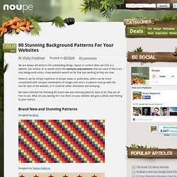 80 Stunning Background Patterns For Your Websites - Noupe Design Blog