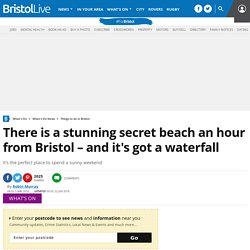 There is a stunning secret beach an hour from Bristol – and it's got a waterfall - Bristol Live