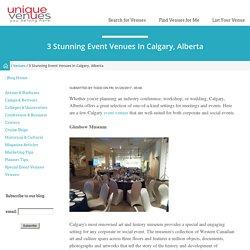 3 Stunning Event Venues in Calgary, Alberta