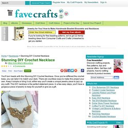 Stunning DIY Crochet Necklace