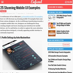 25 Stunning Mobile UI Examples