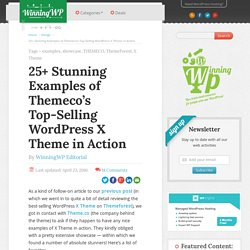 25+ Stunning Examples of The WordPress X Theme in Action