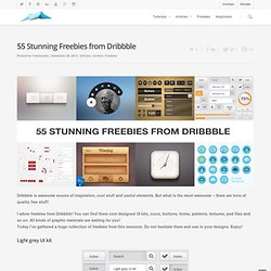 55 Stunning Freebies from Dribbble