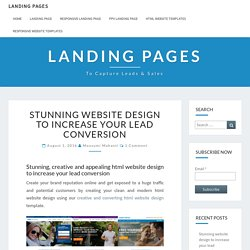 stunning html website design to increase your lead conversion