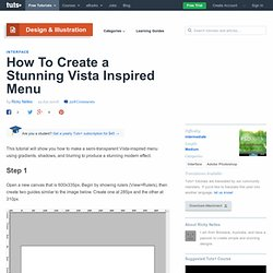 How To Create a Stunning Vista Inspired Menu